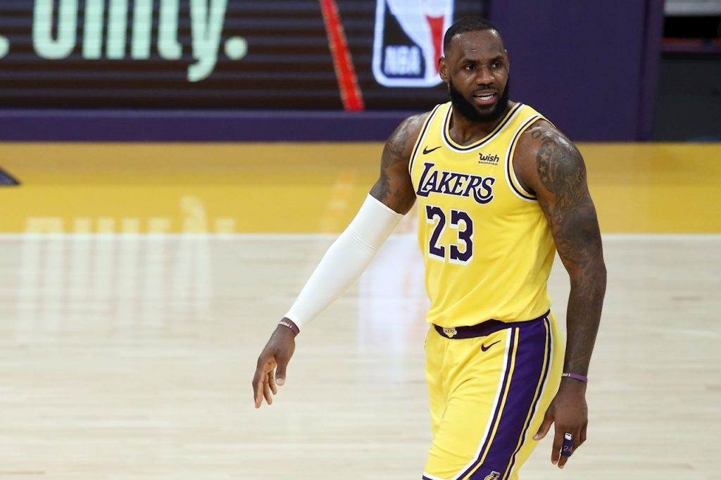 LeBron James, estrella de los Lakers. Foto: EFE