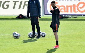 Cristiano Ronaldo, en la práctica de Juventus. Foto: Reuters