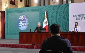 López-Gatell se quitó el cubrebocas en conferencia, pese a tener síntomas de Covid