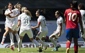 El Tri Femenil venció a Costa Rica en el Estadio Azteca. Foto: @miseleccionmx