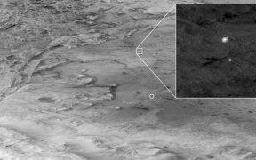 NASA difunde el video de la llegada del Perseverance a Marte