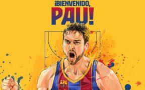 El Barcelona hizo oficial el regreso de Pau Gasol. Foto: @FCBbasket