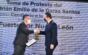 El priista Adrián de la Garza encabeza la candidatura del PRI y el PRD para la gubernatura de NL