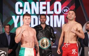 Canelo Álvarez y Yildirim superaron la báscula para su combate del sábado. Foto: Mexsport