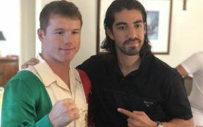 Pizarro mostró su apoyo al Canelo. Foto: @Rpizarrot