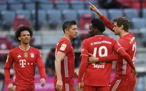 El Bayern celebra la goleada sobre Colonia. Foto: Reuters