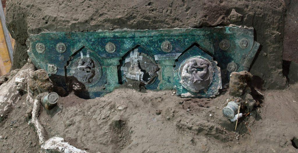 Una carroza ceremonial, el gran descubrimiento en Pompeya
