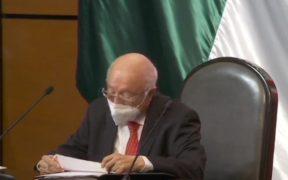 Comparece el auditor Superior, David Colmenares, ante diputados tras inconsistencias del reporte del NAICM
