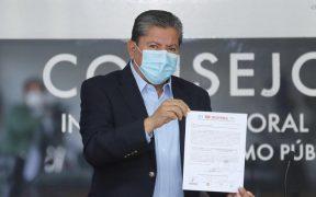 Se registra David Monreal como candidato de Morena por la gubernatura de Zacatecas