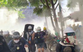 Suman 10 manifestantes muertos en último día de protestas en Birmania