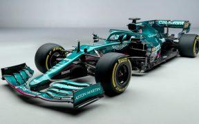 El nuevo auto de Aston Martin para la temporada 2021 de F1. Foto: @F1