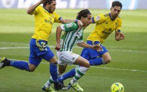 Lainez, en acción con el Betis. Foto: @RealBetis