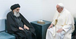 "Papa Francisco pide ""no callar cuando terrorismo abusa de religión"", tras histórica reunión con ayatolá Ali al-Sistani"