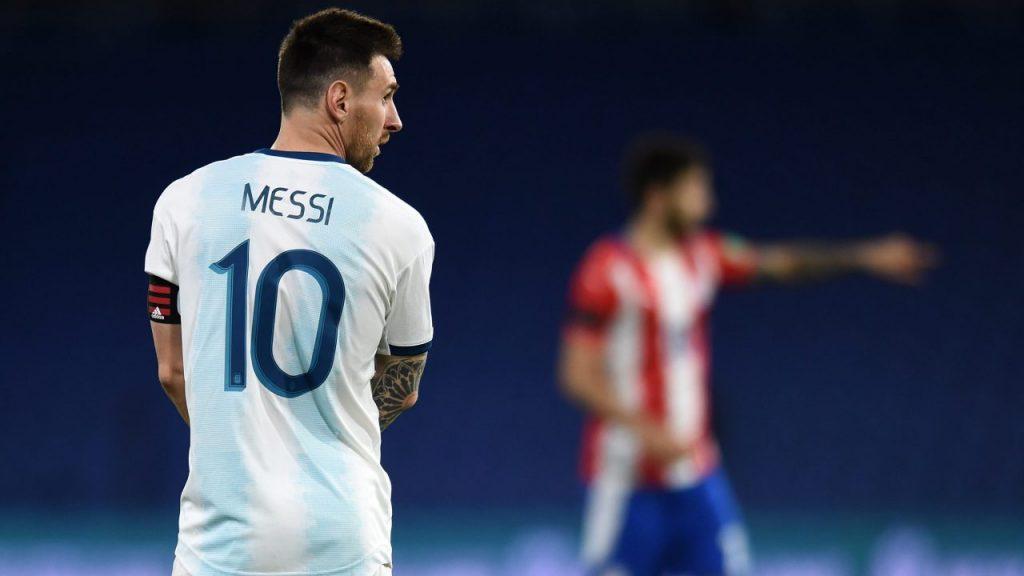 Messi, en un partido con Argentina. Foto: EFE