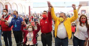 Claudia Anaya asume como candidata del PRI, PAN y PRD en Zacatecas