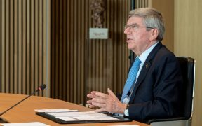 Thomas Bach, presidente del COI, en la sesión virtual. Foto: Reuters
