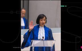 Socorro Flores jura como jueza de la Corte Penal Internacional