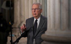 """McConnell considera """"una exageración"""" el despliegue de la Guardia Nacional en el Capitolio"""