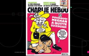 Charlie Ebdo parodia tema racial entre reina Isabel y Meghan Markle