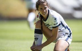 Deneva Cagigas, en un partido con Pumas Femenil. Foto: Mexsport
