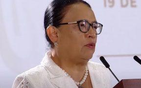 """Hay crimen organizado """"en algunas entidades, no en todo el territorio"""", afirma Rosa Icela ante señalamientos de ingobernabilidad desde EU"""
