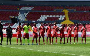 Haití inició con 10 jugadores y un defensa como portero ante Honduras. Foto: Mexsport