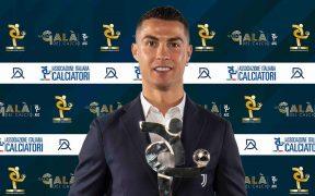Cristiano Ronaldo recibiió el premio en la Gran Gala del Calcio. Foto: @cristiano