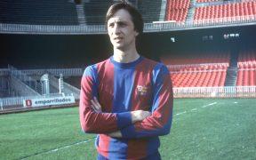 Johan Cruyff, el día de su presentación en el Camp Nou. Foto: EFE