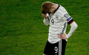 Timo Werner, desolado ante la derrota alemana. Foto: Reuters