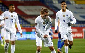 Griezmann celebra su gol frente a Bosnia. Foto: EFE