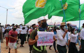 Suman 550 muertos por la represión militar a las protestas en Birmania