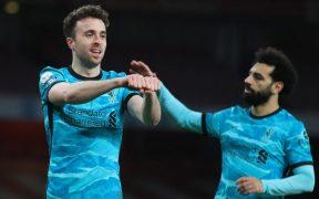 Diogo Jota y Salah hicieron los goles para el triunfo del Liverpool. Foto: Reuters