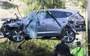 La camioneta de Woods volcó a una velocidad de 87 millas por hora. Foto: AP