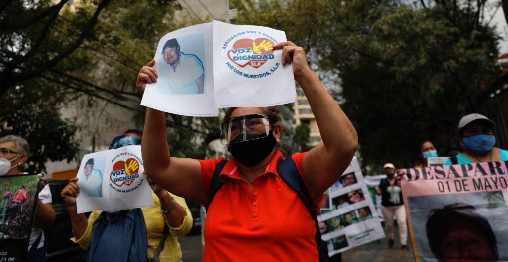 Familiares de desaparecidos protestan en la CDMX para exigir justicia