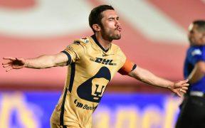 Vigón celebra el 0-1 sobre Necaxa. Foto: Mexsport
