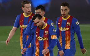 Messi, decepcionado una vez más. Foto: EFE