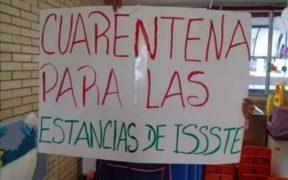 """""""Somos personal de salud cuando les conviene""""; trabajadoras de estancias infantiles del ISSSTE piden vacuna contra Covid"""