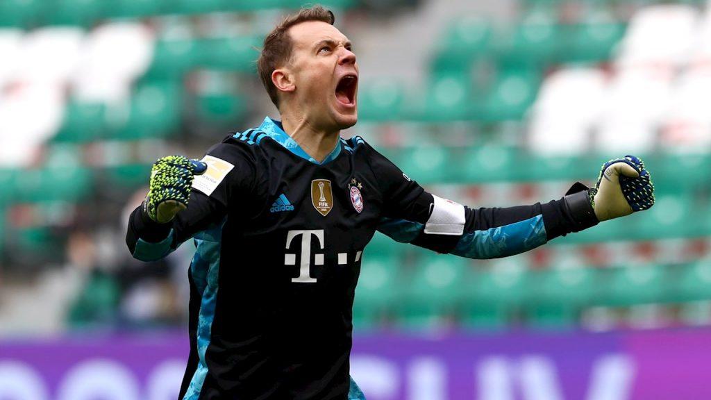 Manuel Neuer aúlla en el triunfo del Bayern sobre Wolfsburgo. Foto: EFE