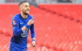 Ziyech celebra el único gol de la semifinal ante Manchester City. Foto: EFE