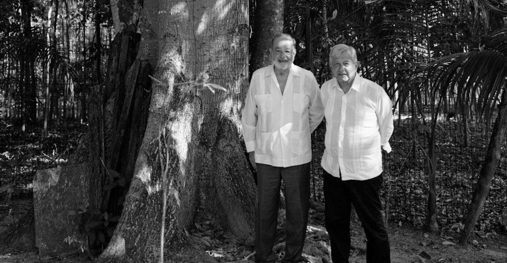 AMLO y Slim evalúan avance del Tren Maya en Tabasco
