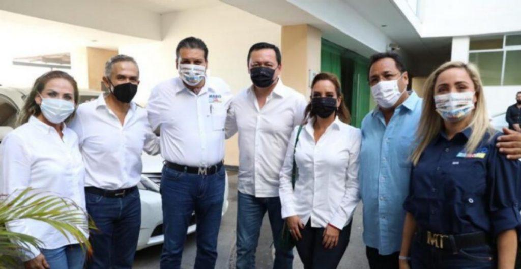Senadores del PRI y PRD acompañan al candidato de Sinaloa