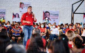 """El presidente del PRI, Alejandro Moreno, asegura que en Campeche hay """"turistas electorales"""""""