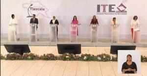 Alerta de género y fiscalía especializada en feminicidios, las propuestas de los candidatos en debate en Tlaxcala