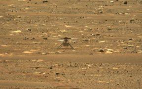 El helicóptero de la Nasa, hace historia al volar, por primera vez, en Marte