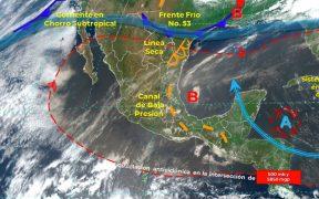 SMN alerta por fuertes lluvias y descargas eléctricas en ocho estados del país