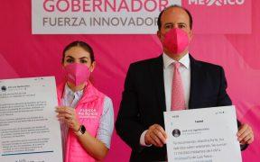 """Candidato de Fuerza por México a gubernatura de Querétaro presenta el """"estupidómetro"""""""