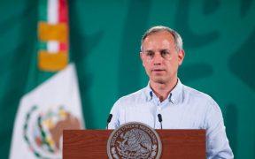 Con tos, respiración entrecortada y sin cubrebocas, López-Gatell presenta el avance de la vacunación