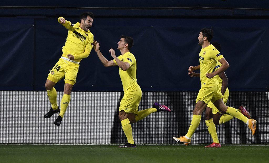 Trigueros celebra el primer gol del Villarreal ante el Arsenal. (Foto: Reuters).