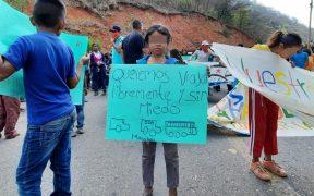 Niños de Chilapa, Guerrero, exigen a autoridades un alto a la violencia e inseguridad