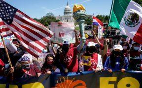 Migrantes reclaman la ciudadanía y se reafirman como la fuerza laboral de EU en Día del Trabajo